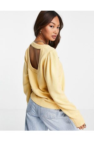 SELECTED Femme knitted jumper with cut-out back in