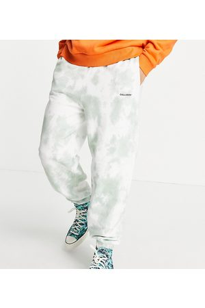 COLLUSION Oversized trackies in tie-dye co-ord