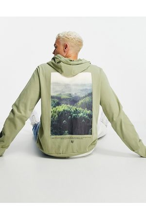 Sixth June Oversized hoodie in dusty with photographic back print