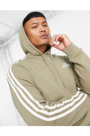adidas Adidas Training hoodie with Three Stripes in khaki