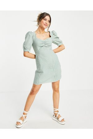 Nobody's Child Mini tea dress with puff sleeves in
