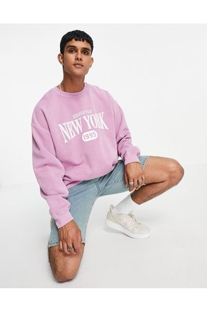 New Look Sweat with New York print in overdye