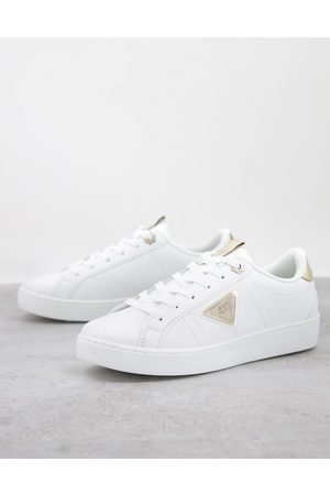 River Island Side plate sneakers in and metallic