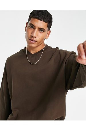 Weekday Emanuel v neck sweatshirt in
