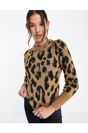 VERO MODA Jumper in tonal leopard-Multi