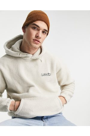 Levi's Borg hoodie in with logo-Neutral