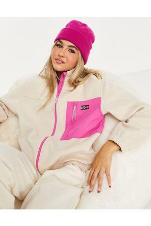 Tommy Hilfiger Zip-up fleece jacket in pink
