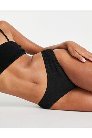 Object Crepe bikini bottom co-ord in black