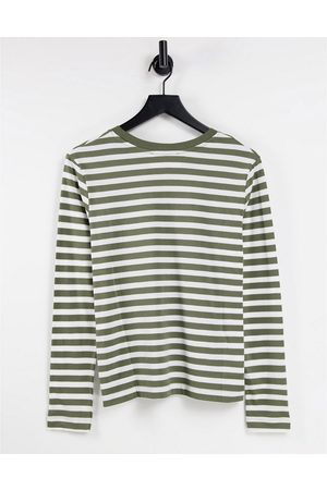 SELECTED Femme organic cotton t-shirt with long sleeves in -Multi