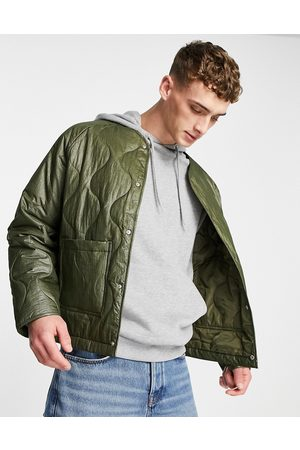 ASOS Quilted jacket in -Green