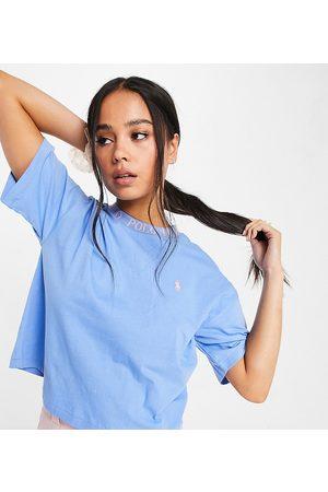 Polo Ralph Lauren X ASOS exclusive collab logo mock neck t-shirt in blue