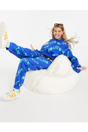 House of Holland Logo print co-ord trackies in blue