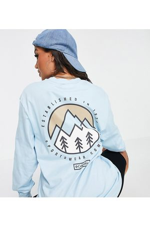 Columbia Cades Cove long sleeve t-shirt in blue Exclusive at ASOS