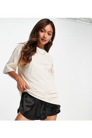 SELECTED Exclusive Unisex organic cotton oversized t-shirt in sand-Neutral