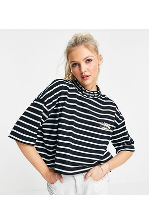 Quiksilver 90 cropped striped T-shirt in Exclusive to ASOS