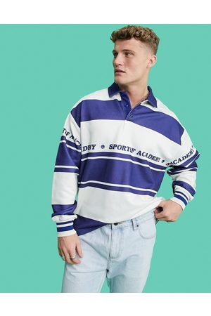 ASOS Oversized rugby sweatshirt with all over stripe prints