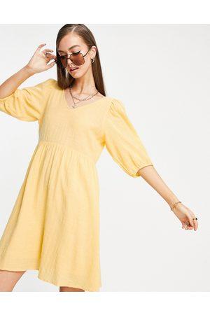 VERO MODA Mini smock dress with cross back in