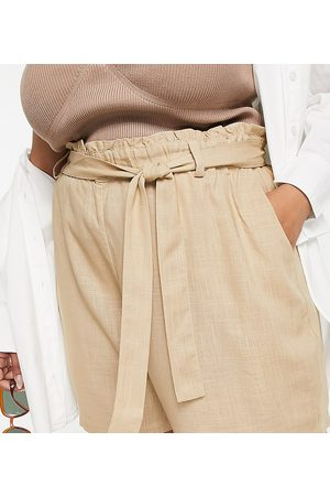 VERO MODA Shorts with paperbag waist in -Brown