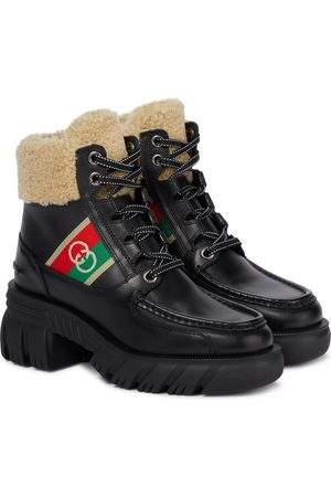 Gucci Romance leather hiking boots