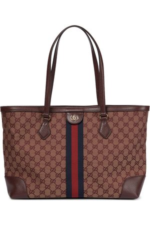 Gucci Ophidia Medium GG canvas and leather tote