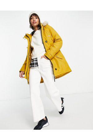 VERO MODA Parka with faux fur lined hood in -Orange