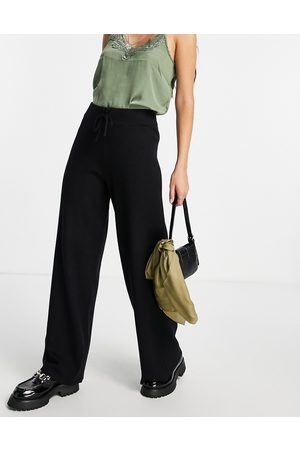 Object Knitted wide leg pants in