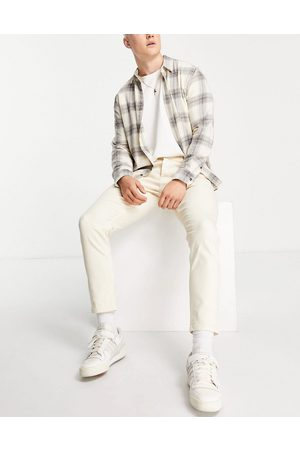 Topman Stretch tapered jeans in -White