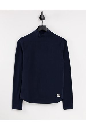 The North Face Heritage Label Polar long sleeve t-shirt in navy