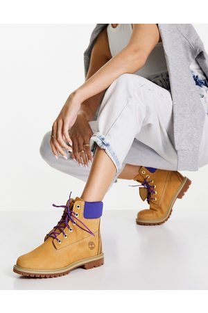 Timberland 6 inch Heritage cupsole boots in /purple-Brown
