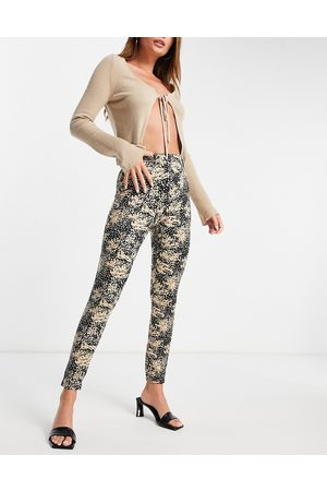 VERO MODA Recycled high waisted printed leggings-Multi
