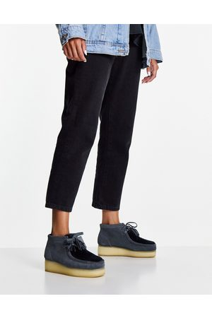 Clarks Wallabee wedge ankle boots in