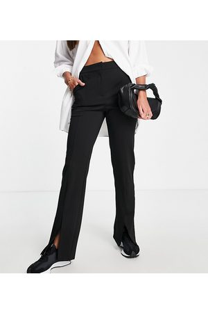 VERO MODA Recycled blend wide leg pants with split in