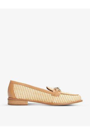Dune Women Loafers - Glossi colour-block raffia loafers