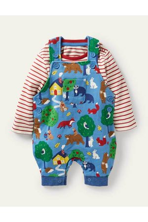 Boden Printed Jersey Dungaree Set Baby