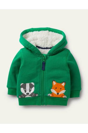 Boden Shaggy-lined Hoodie Baby