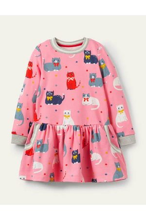 Boden Mini Cosy Printed Sweatshirt Dress Boden Boden