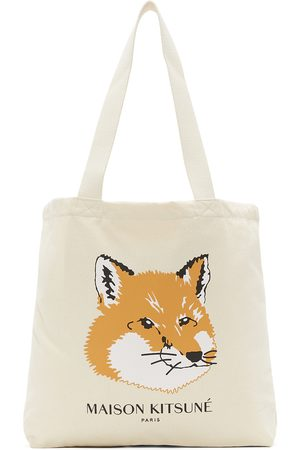 Maison Kitsuné Women Tote Bags - Off- Fox Head Tote