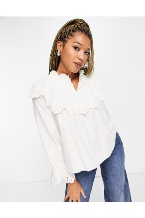 & OTHER STORIES & broderie detail frill blouse in