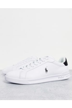 Polo Ralph Lauren Heritage court leather sneakers with pony logo in