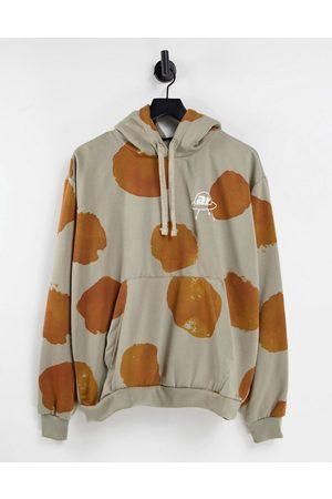 Another Reason Splat hoodie in khaki