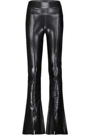 Norma Kamali Spat coated high-rise leggings