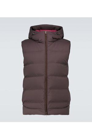 Loro Piana Down-filled nylon gilet with hood