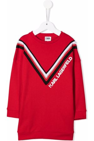 Karl Lagerfeld Chevron-print logo sweatshirt