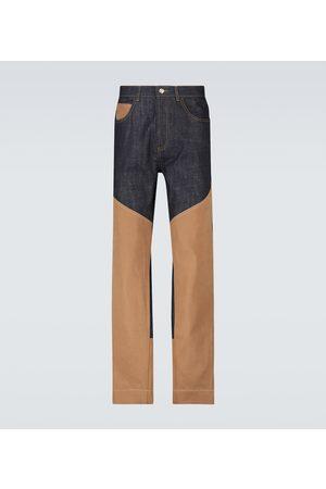 WALES BONNER Essence paneled jeans