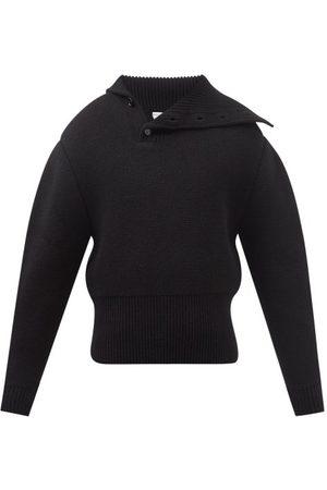 Bottega Veneta Asymmetric-collar Wool Sweater - Mens