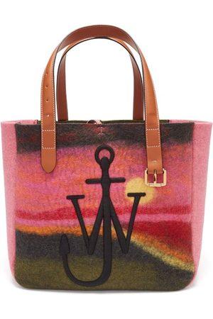 J.W.Anderson Northern Lights-print Wool-blend Felt Tote Bag - Womens - Multi