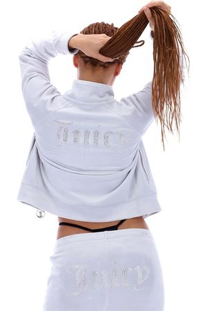 Juicy Couture Velour track sweat with diamante detail in (part of a set)