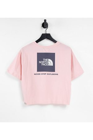 The North Face Redbox cropped t-shirt in /grey - Exclusive to ASOS