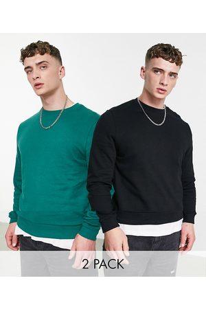 ASOS Sweatshirt in green/black 2-pack-Multi