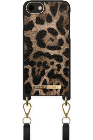 IDEAL OF SWEDEN Women Phone Cases - Atelier Necklace Case iPhone 8 Midnight Leopard